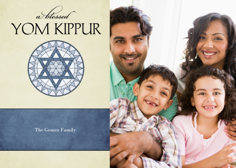 Yom Kippur 5x7 Cards, Standard Cardstock 85lb, Card & Stationery -Stained Glass Blessing