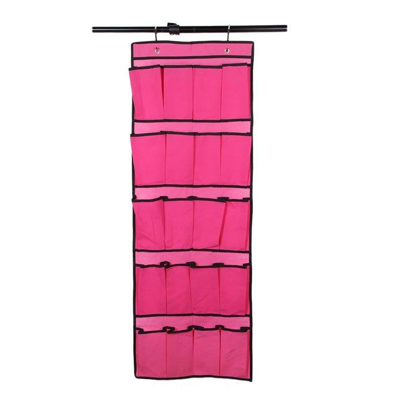 20 Pockets Bedroom Bath Wall Hanging Bag Door Back Shoes Storage Bag Garden Planting Pot Bag