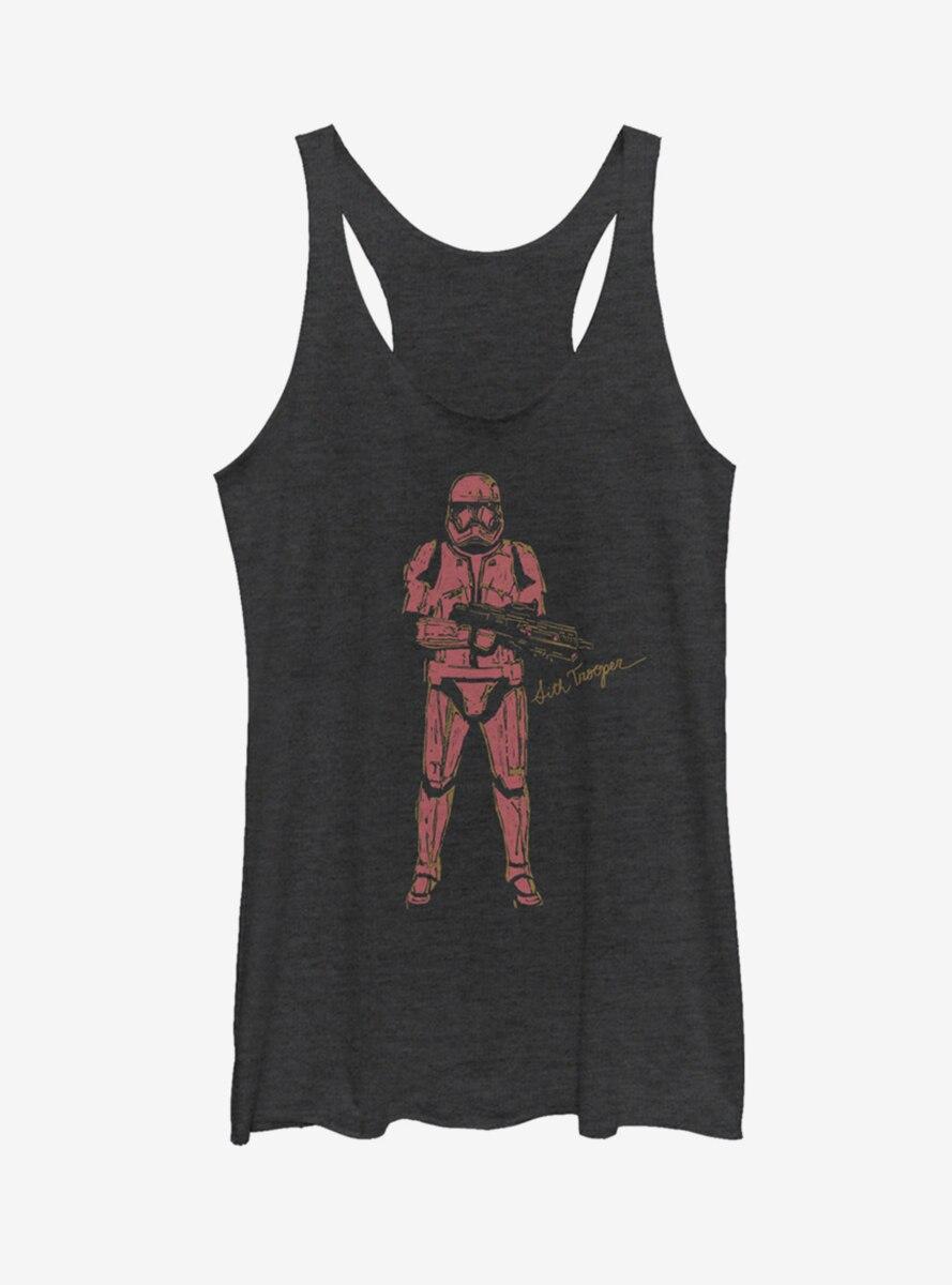 Star Wars Episode IX The Rise Of Skywalker Red Trooper Womens Tank Top