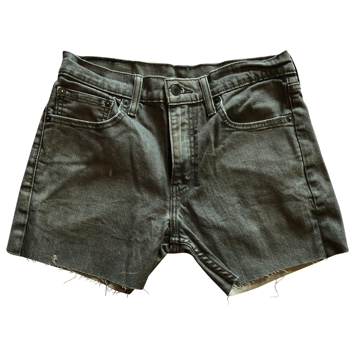 Levi's Vintage Clothing \N Anthracite Denim - Jeans Shorts for Women 32 FR