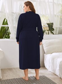 Plus Dual Pocket Belted Robe
