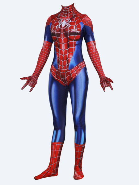 Milanoo Marvel Comics Spiderman Cosplay Spider Women Red Film Female Version Jumpsuit Leotard Marvel Comics