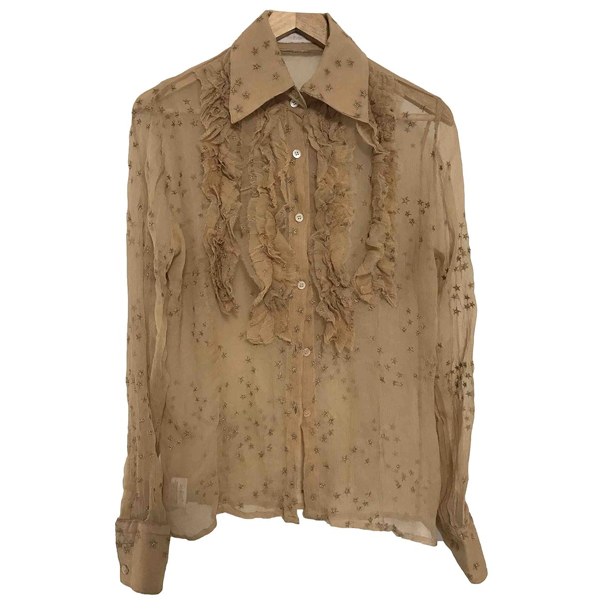 Ermanno Scervino \N Camel Silk  top for Women 40 IT