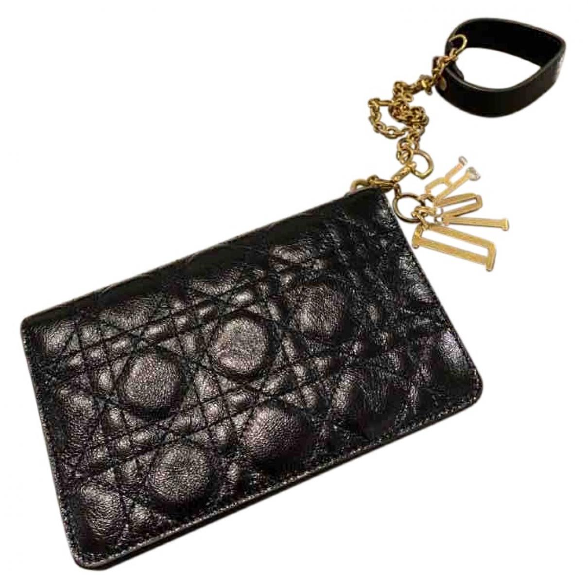Dior Lady Dior Black Leather Clutch bag for Women \N