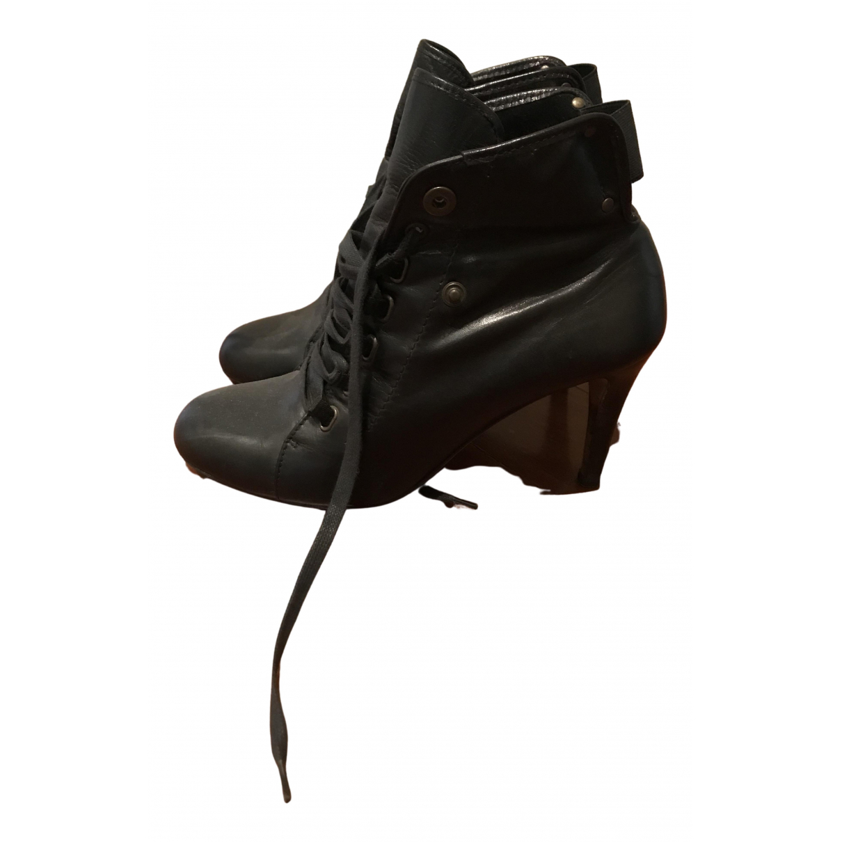 Moschino \N Black Leather Ankle boots for Women 38 EU