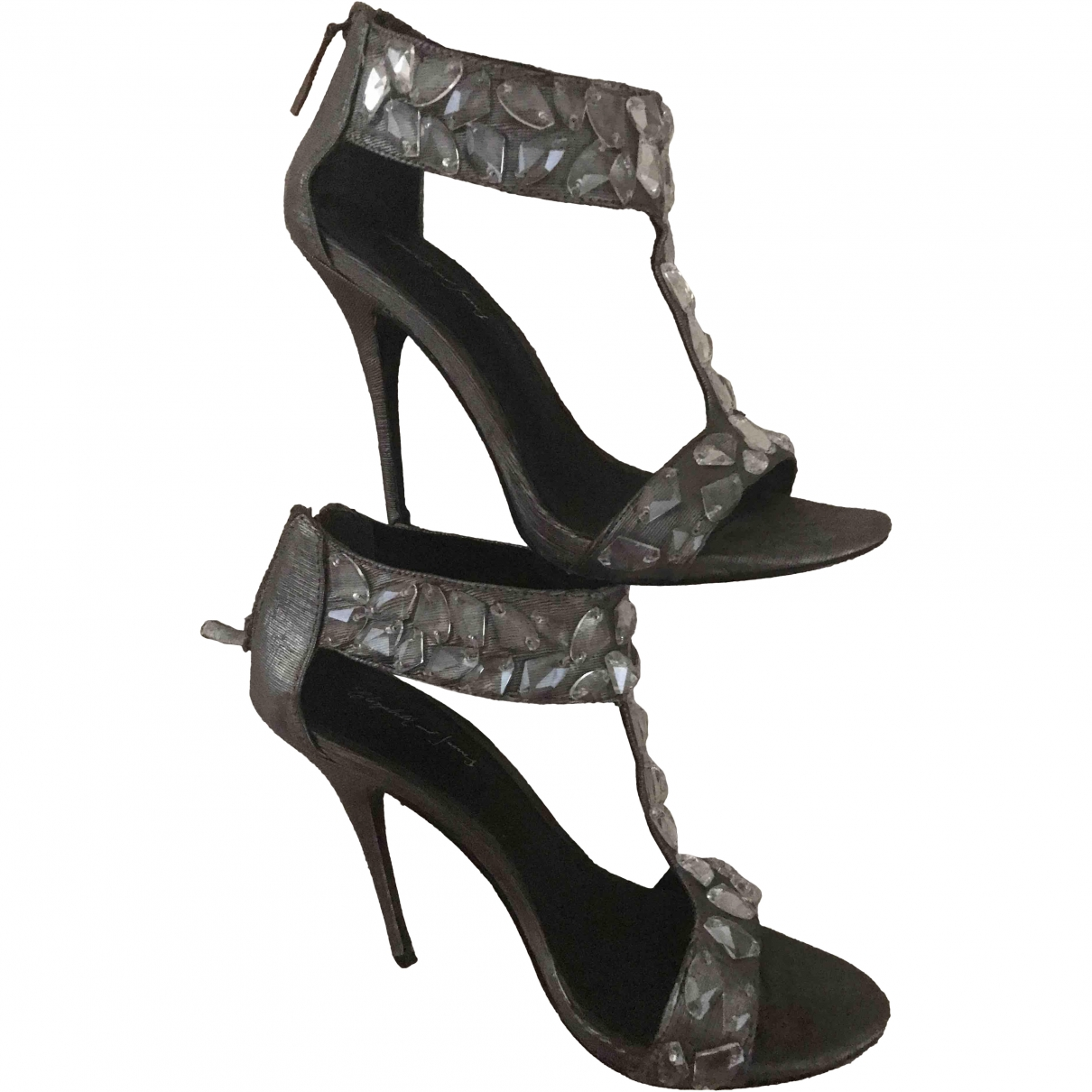 Elizabeth And James \N Metallic Cloth Heels for Women 38 EU