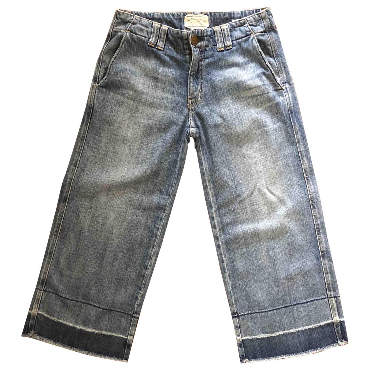 Current Elliott \N Blue Cotton Jeans for Women 24 US