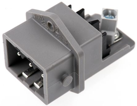 Hirschmann , ST Panel Mount 3P Industrial Power Socket, Rated At 16.0A, 250.0 V, 400.0 V