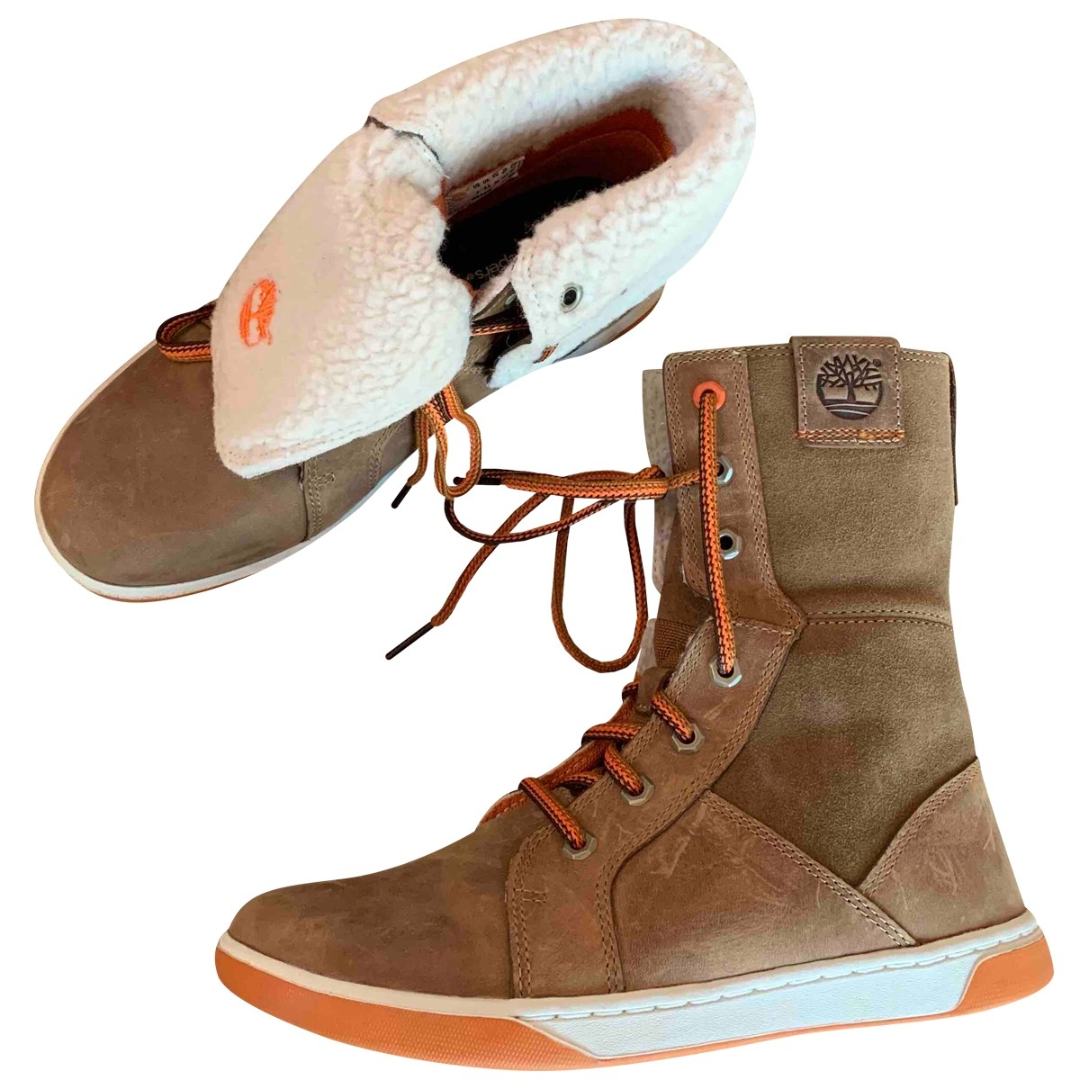 Timberland \N Brown Leather Trainers for Kids 36 EU