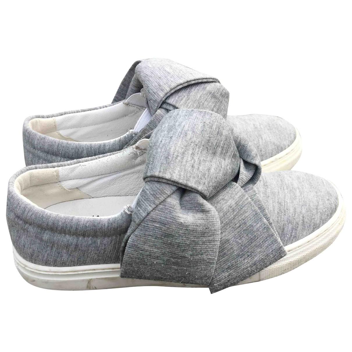 Joshua Sanders \N Grey Leather Trainers for Kids 35 EU