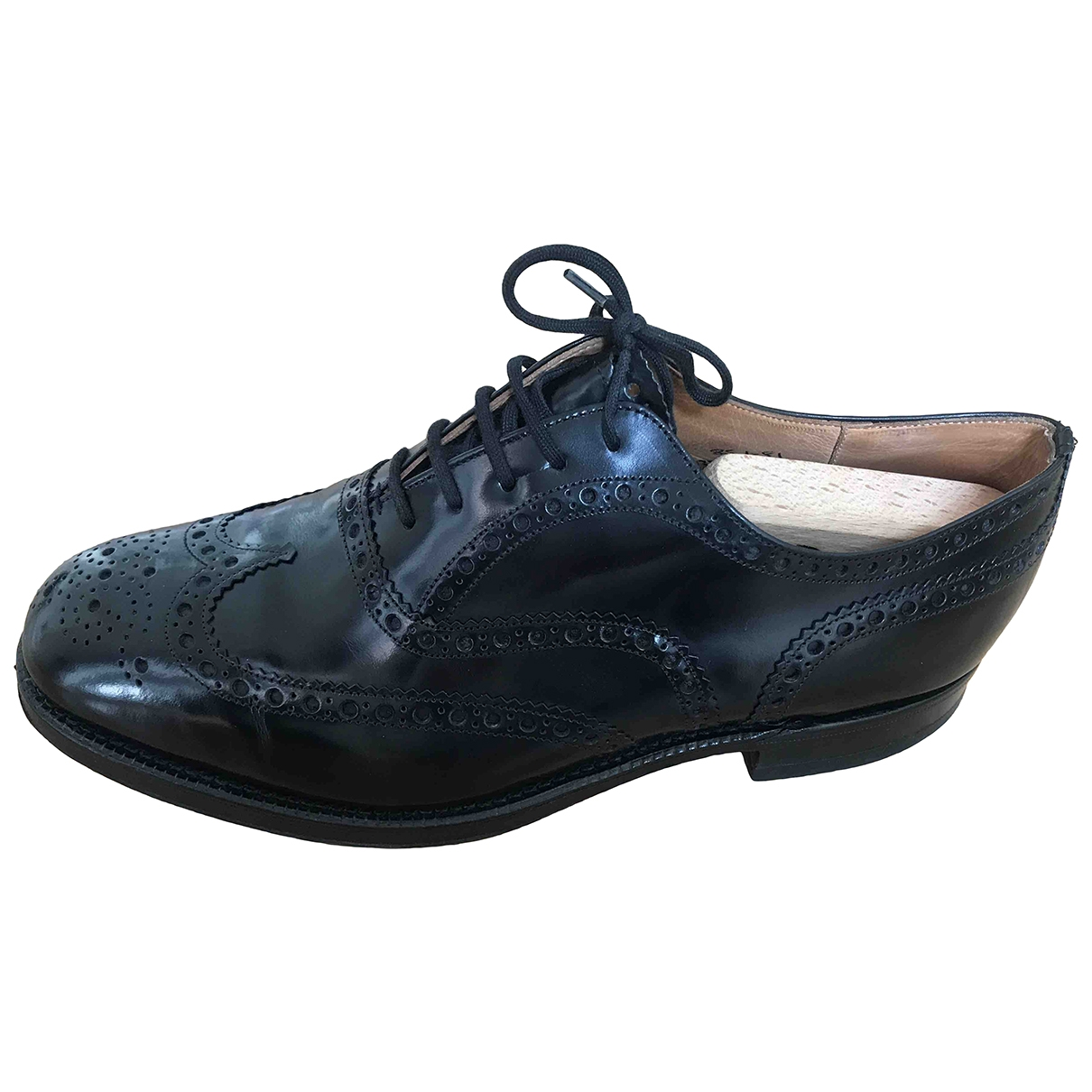 Church's \N Black Leather Lace ups for Men 8.5 UK