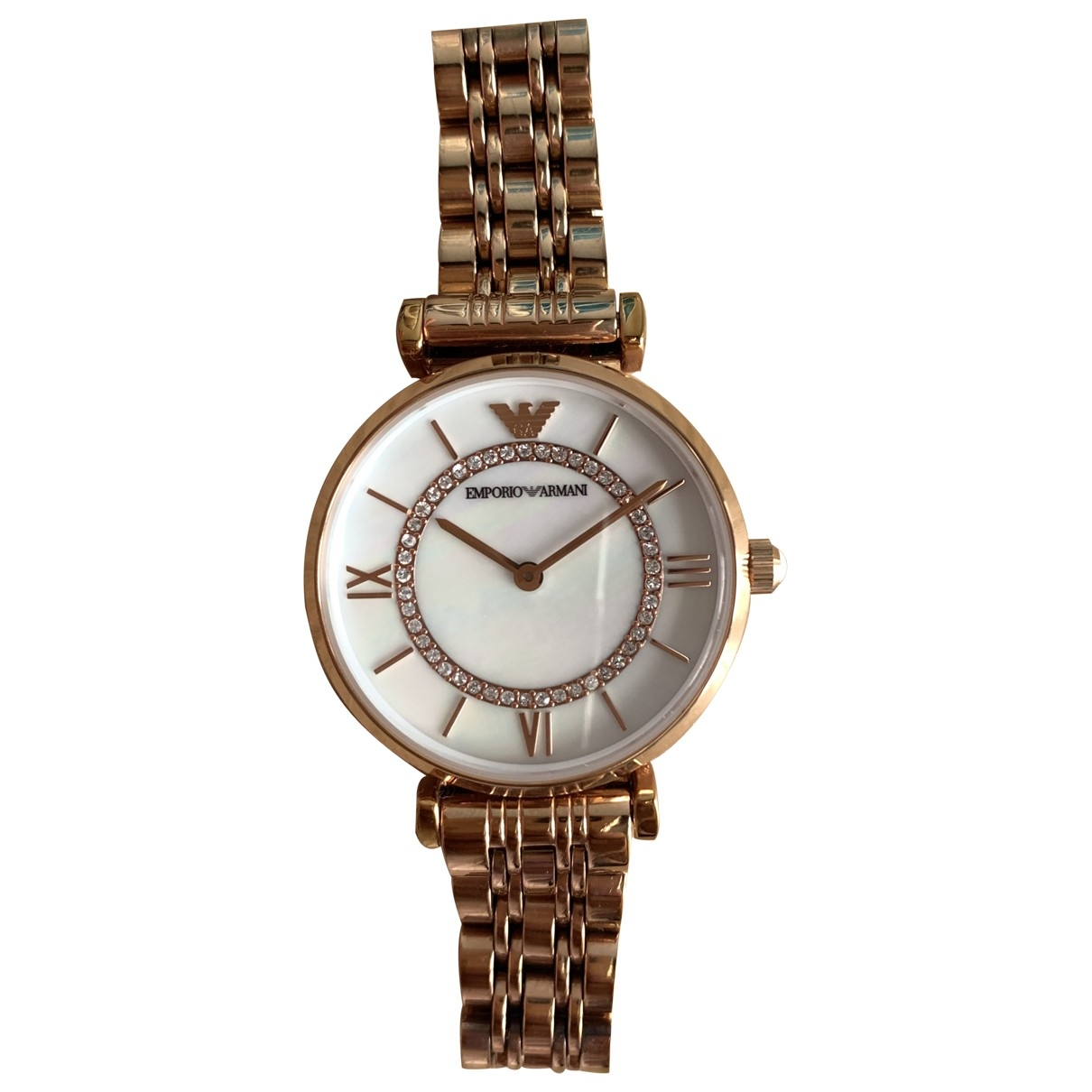 Emporio Armani \N Pink Steel watch for Women \N