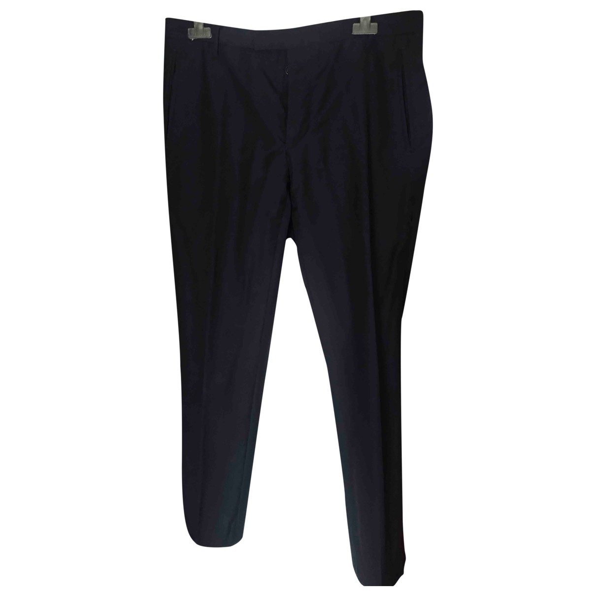 Costume National \N Black Cotton Trousers for Men 48 IT