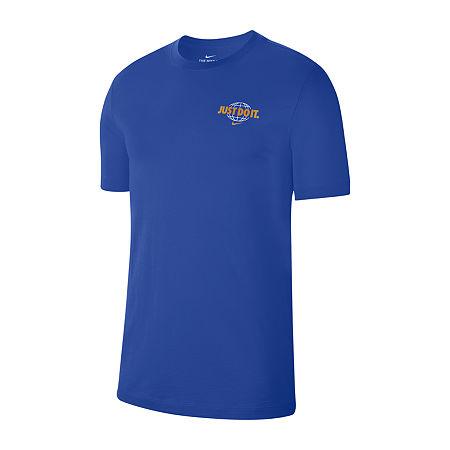 Nike Mens Crew Neck Short Sleeve T-Shirt, Xx-large , Blue