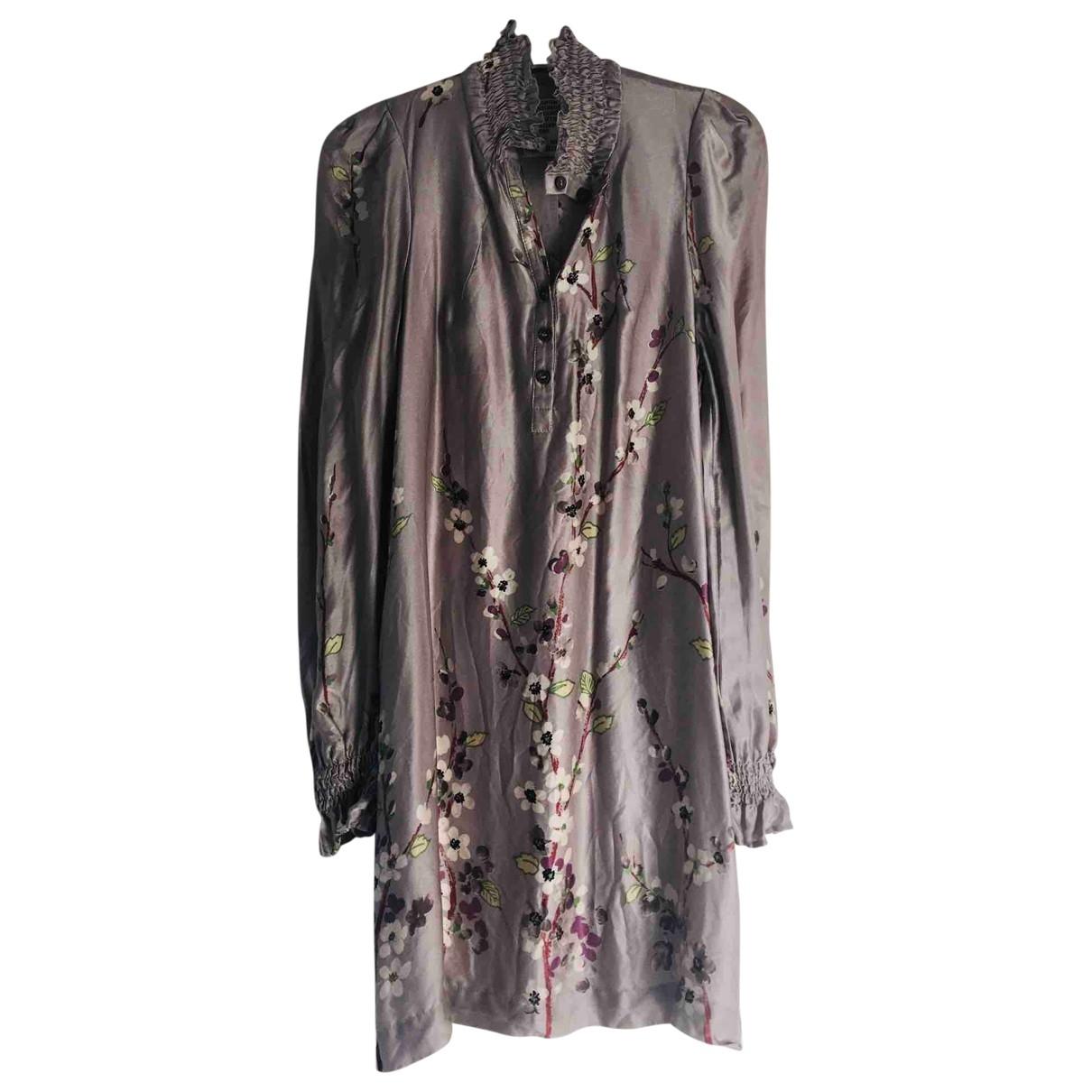Baum Und Pferdgarten \N Grey Silk dress for Women XS International