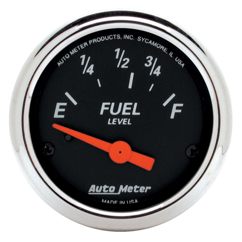 AutoMeter GAUGE; FUEL LEVEL; 2 1/16in.; 73OE TO 10OF; ELEC; DESIGNER BLACK