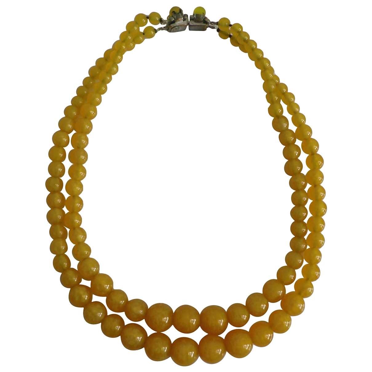 Dior \N Yellow Glass necklace for Women \N