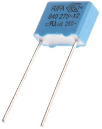 KEMET 10nF Polypropylene Capacitor PP 275 V ac, 760 V dc ±20% Tolerance Through Hole PHE840 Series (10)