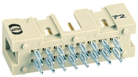 HARTING , SEK 18, 10 Way, 2 Row, Straight PCB Header