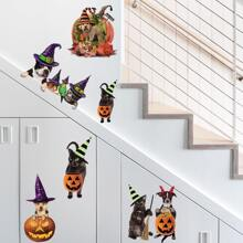 Halloween Animal Print Wall Sticker