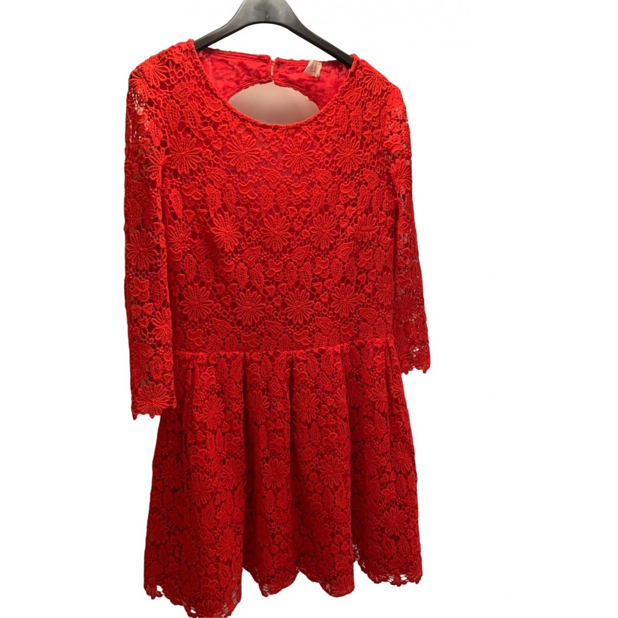 Ba&sh \N Red Lace dress for Women 38 FR