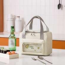 Lemon Print Insulation Lunch Bag