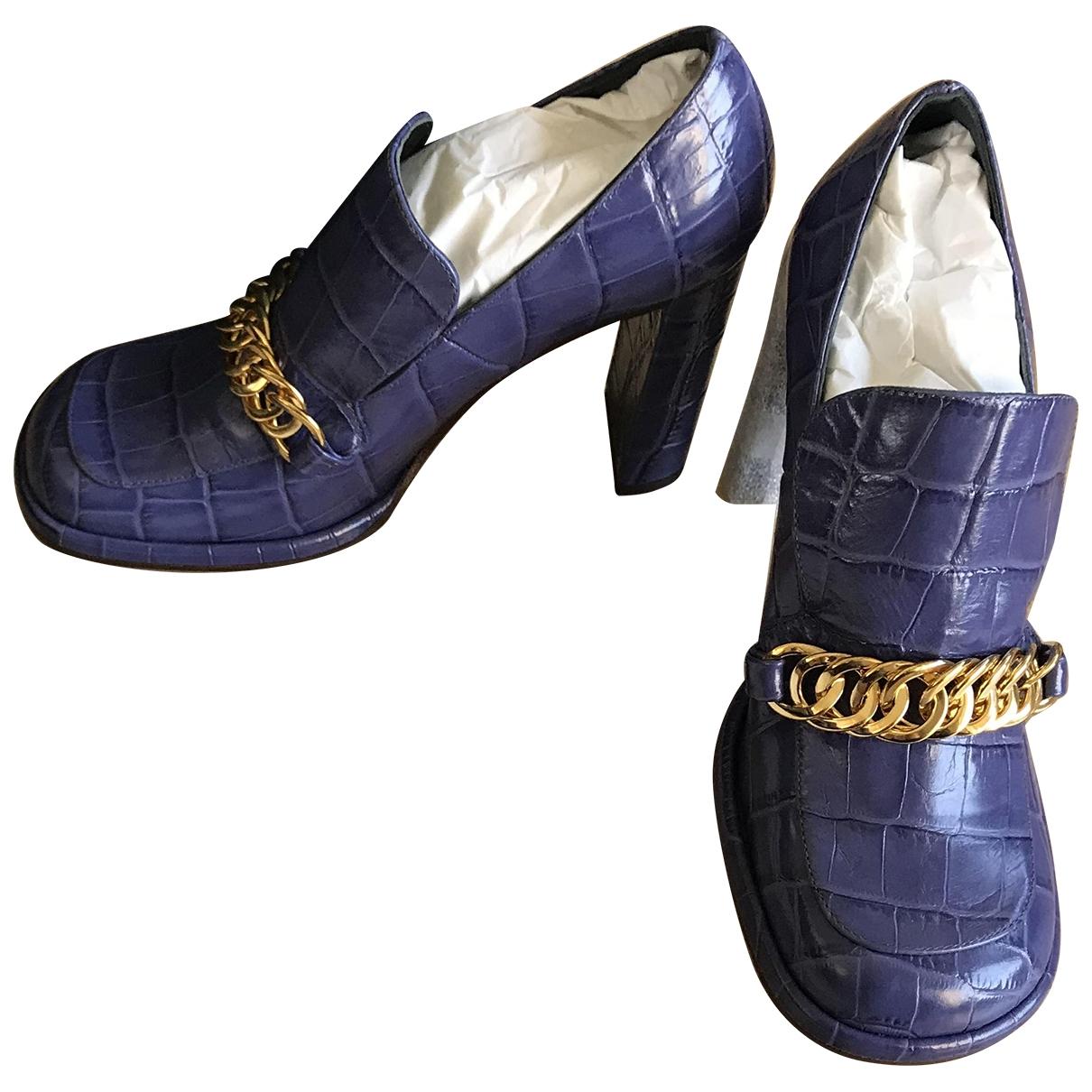 Mulberry \N Purple Leather Heels for Women 38 EU