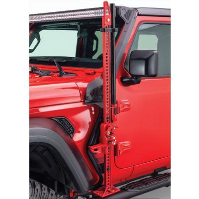 Go Rhino Front Driver Side Exteriror Jack Mount (Black) - 701001T