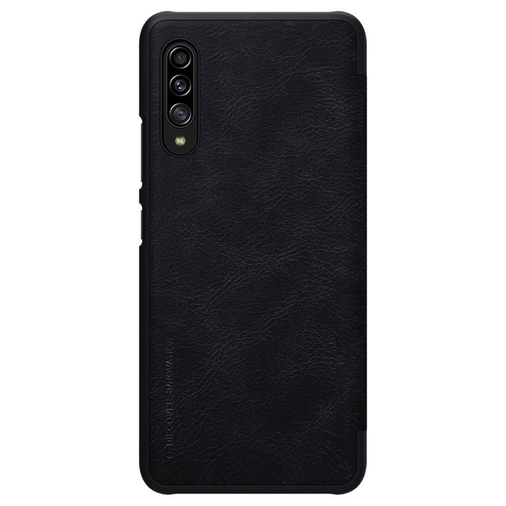 NILLKIN Protective Leather Phone Case For Samsung Galaxy A90 5G Smartphone - Black