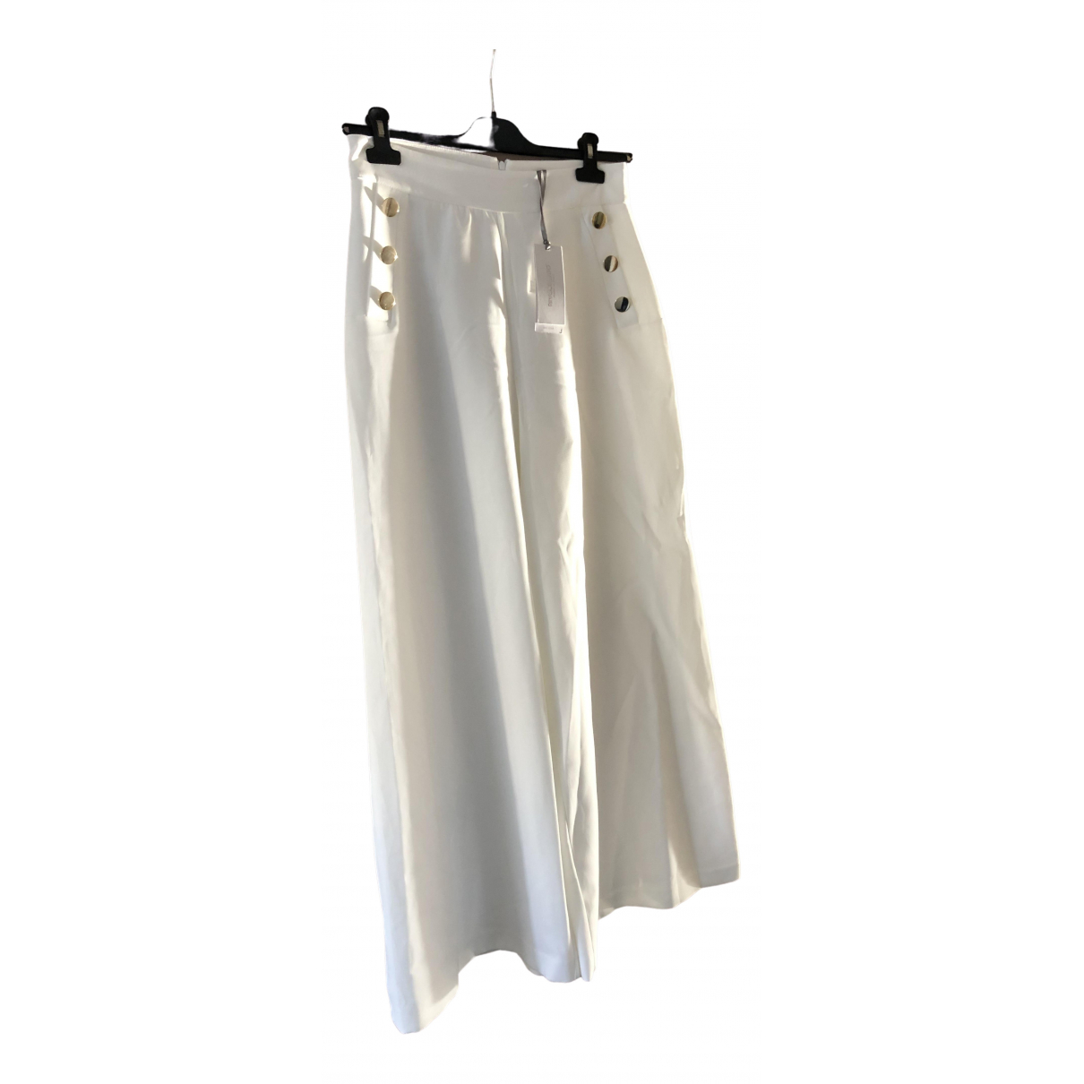 Non Signé / Unsigned \N Ecru Trousers for Women M International