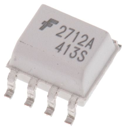 ON Semiconductor , FOD2712AR2 DC Input Transistor Output Optocoupler, Surface Mount, 8-Pin SOIC (10)