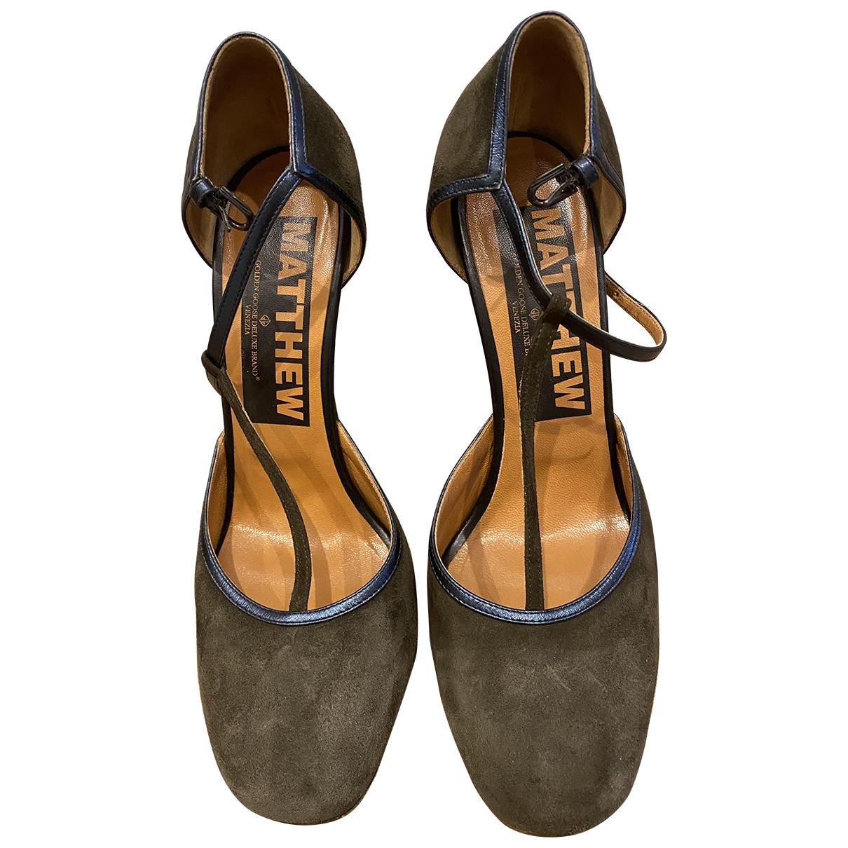 Golden Goose \N Grey Suede Sandals for Women 39 EU