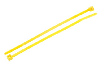 HellermannTyton , T18R Series Yellow Nylon Cable Tie, 100mm x 2.5 mm