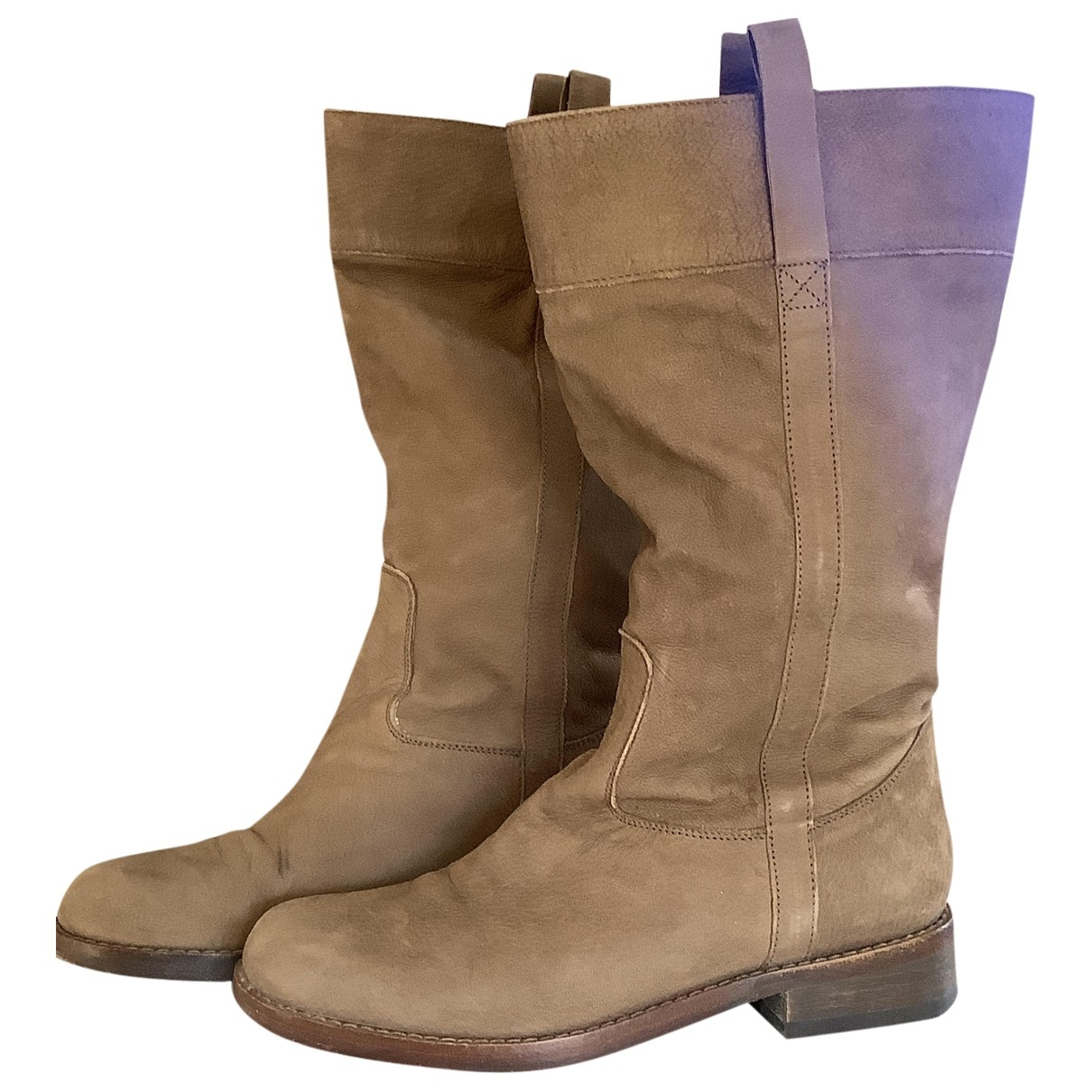 Non Signé / Unsigned \N Leather Boots for Women 5.5 UK