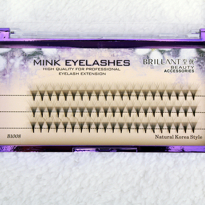 60Pcs Mink Eyelashes Lengthening Eyelashes Pro False Eyelashes Eye Makeup Cosmetic