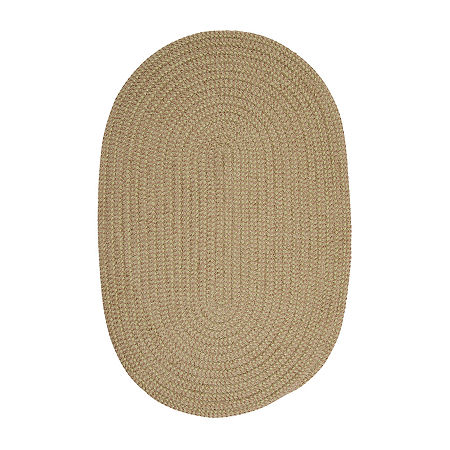 Colonial Mills Modern Trends Chenille Braided Oval Reversible Indoor Rugs, One Size , Green