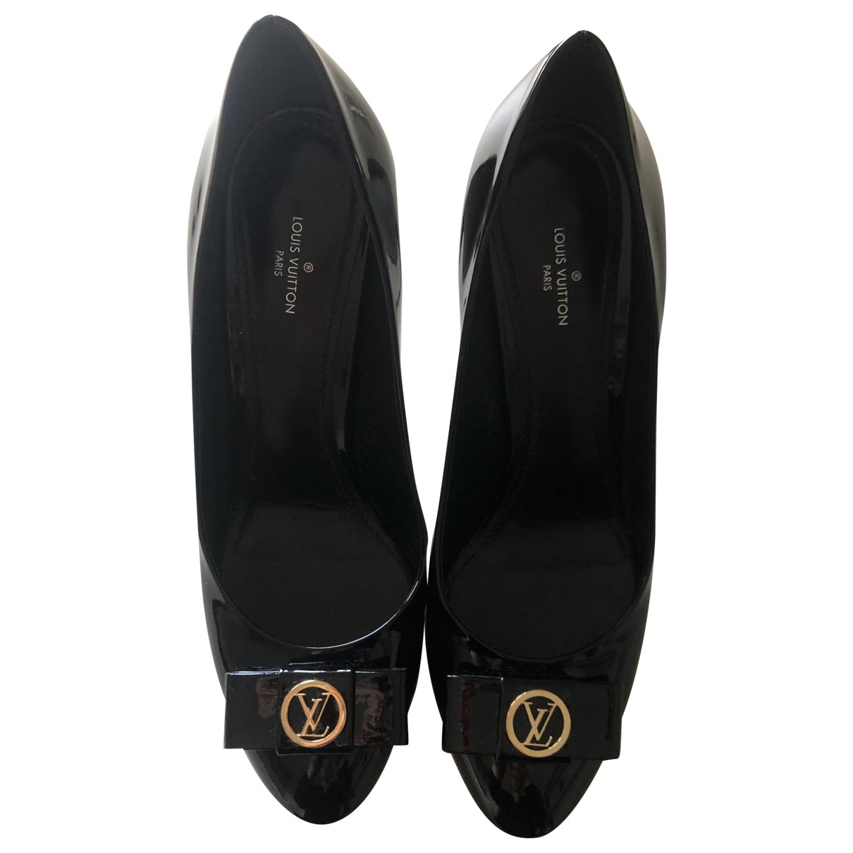 Louis Vuitton \N Black Patent leather Heels for Women 39 EU
