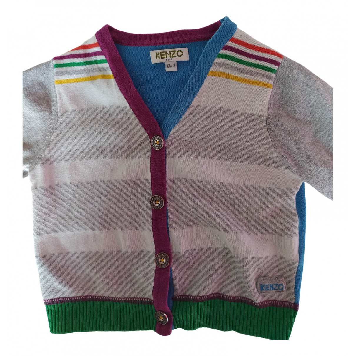 Kenzo \N Grey Cotton Knitwear for Kids 12 months - up to 74cm FR