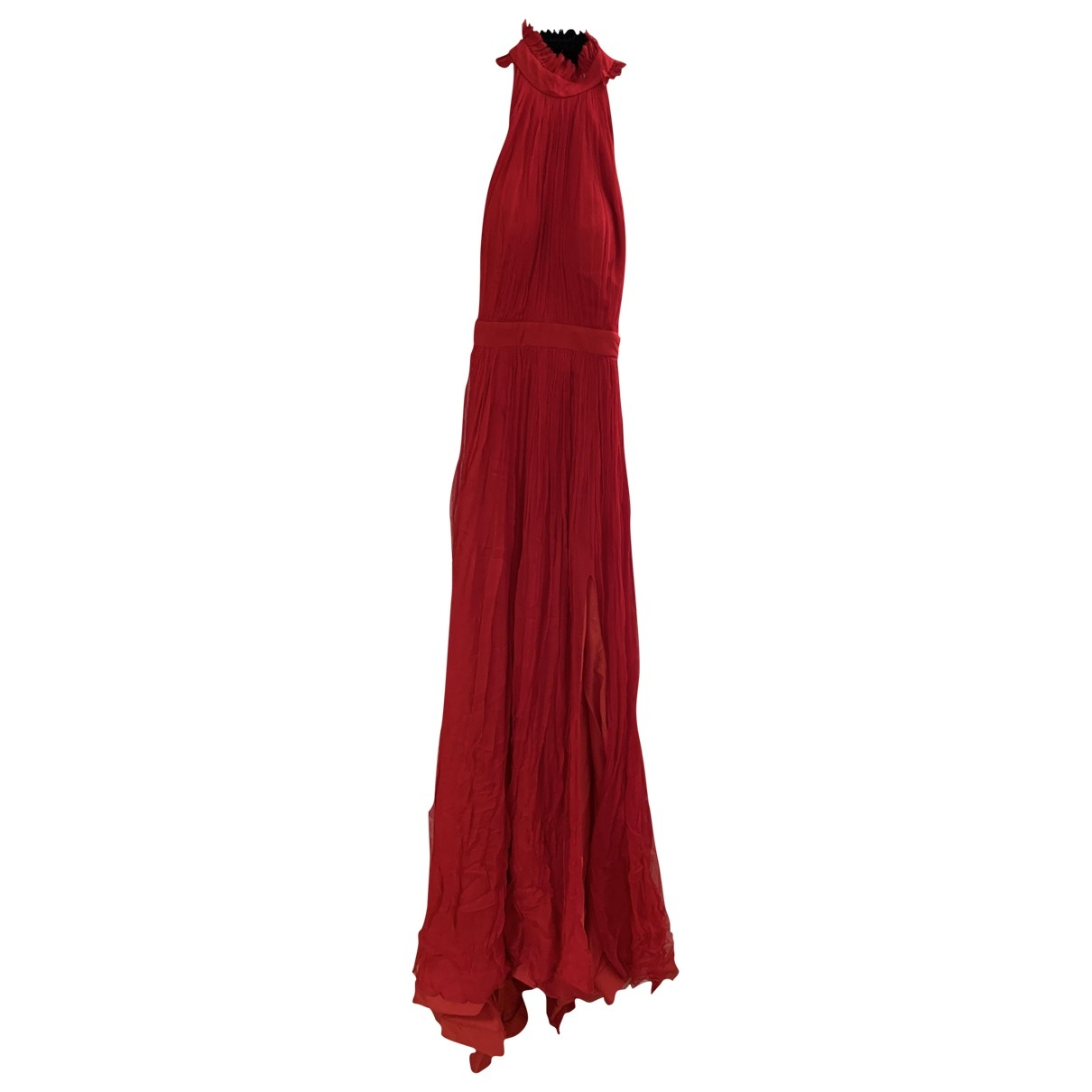 Non Signé / Unsigned \N Red Silk dress for Women 36 FR