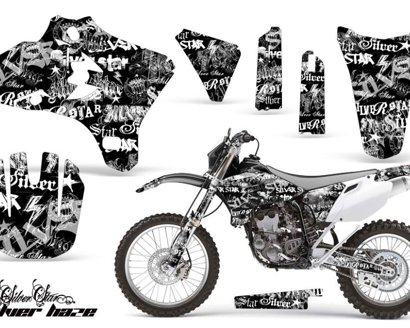 AMR Racing Dirt Bike Graphics Kit Decal Wrap For Yamaha WR250 WR450F 2005-2006áSSSH WHITE BLACK
