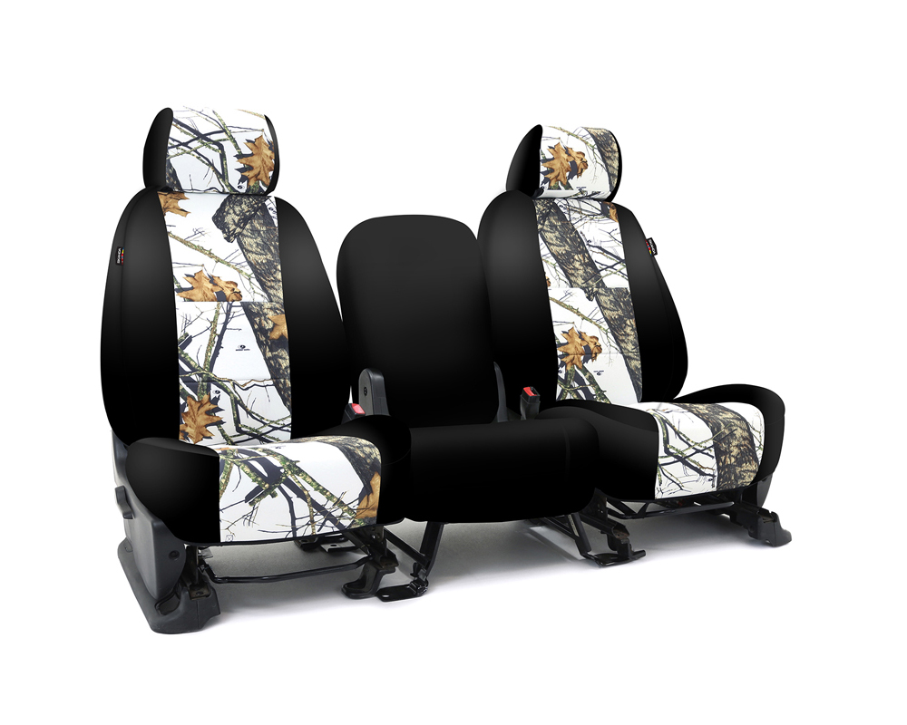 Coverking CSC2MO09TT9722 Skanda Custom Seat Covers 1 Row Neosupreme Mossy Oak Break Up Winter Print with Black Sides Rear Toyota Tundra 2014-2021