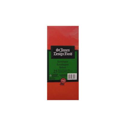 St.James Cartes de Noël Enveloppes - Enveloppes Plaine (vert / rouge) - Rouge 658021