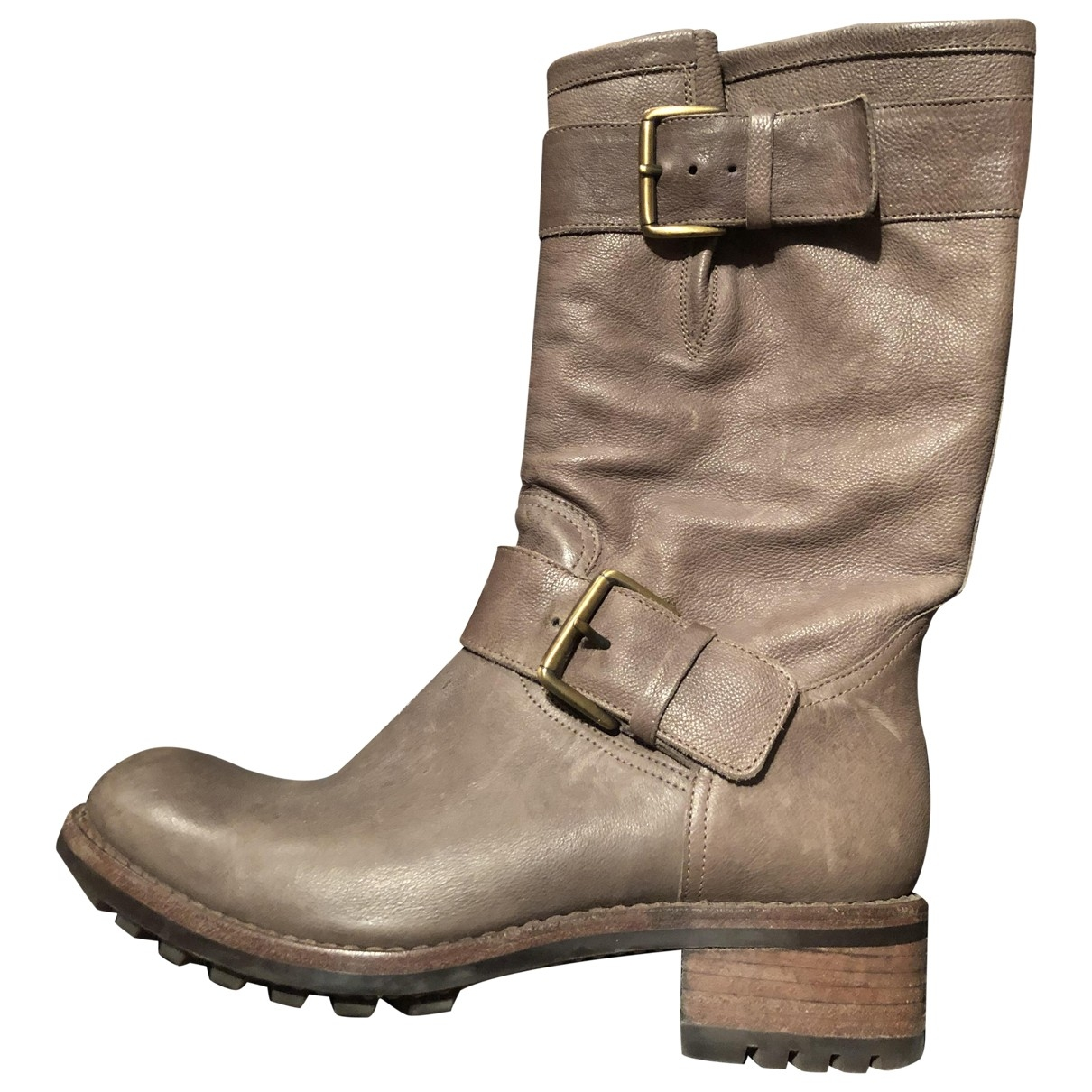 Free Lance \N Brown Leather Boots for Women 38.5 EU