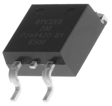 WeEn Semiconductors Co., Ltd 200V 20A, Dual Silicon Junction Diode, 3-Pin D2PAK BYV32EB-200,118 (5)
