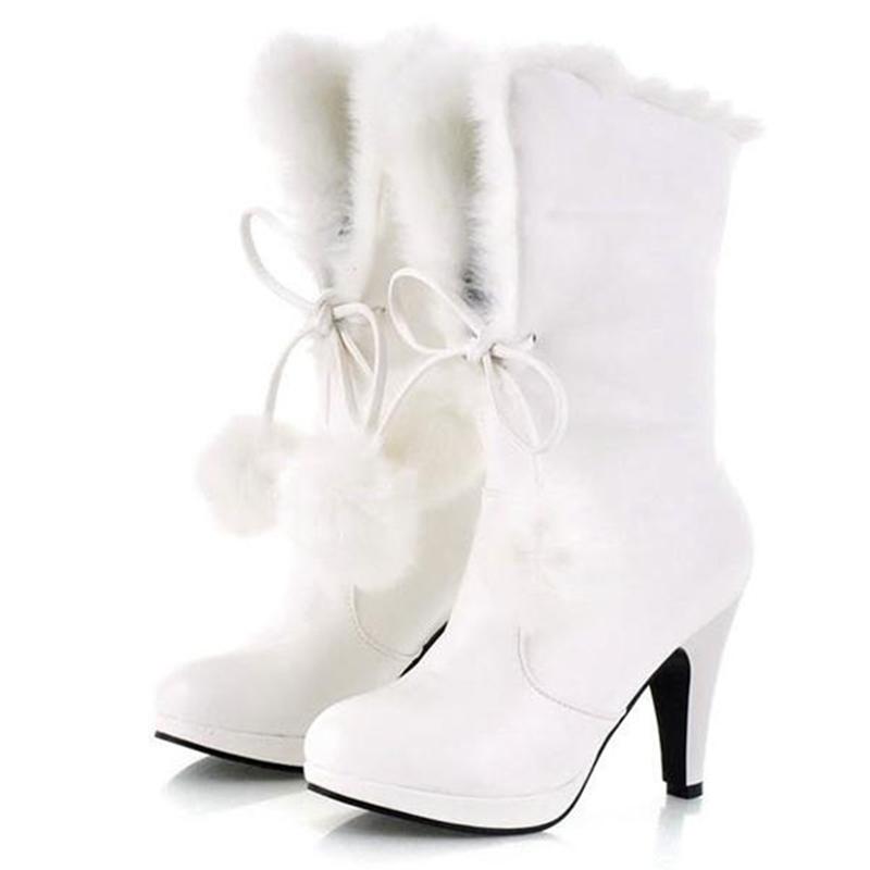 Ericdress Sweet Furry Tassels High Heel Boots