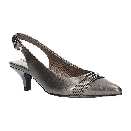 Easy Street Womens Maeve Pumps Kitten Heel, 11 Medium, Gray