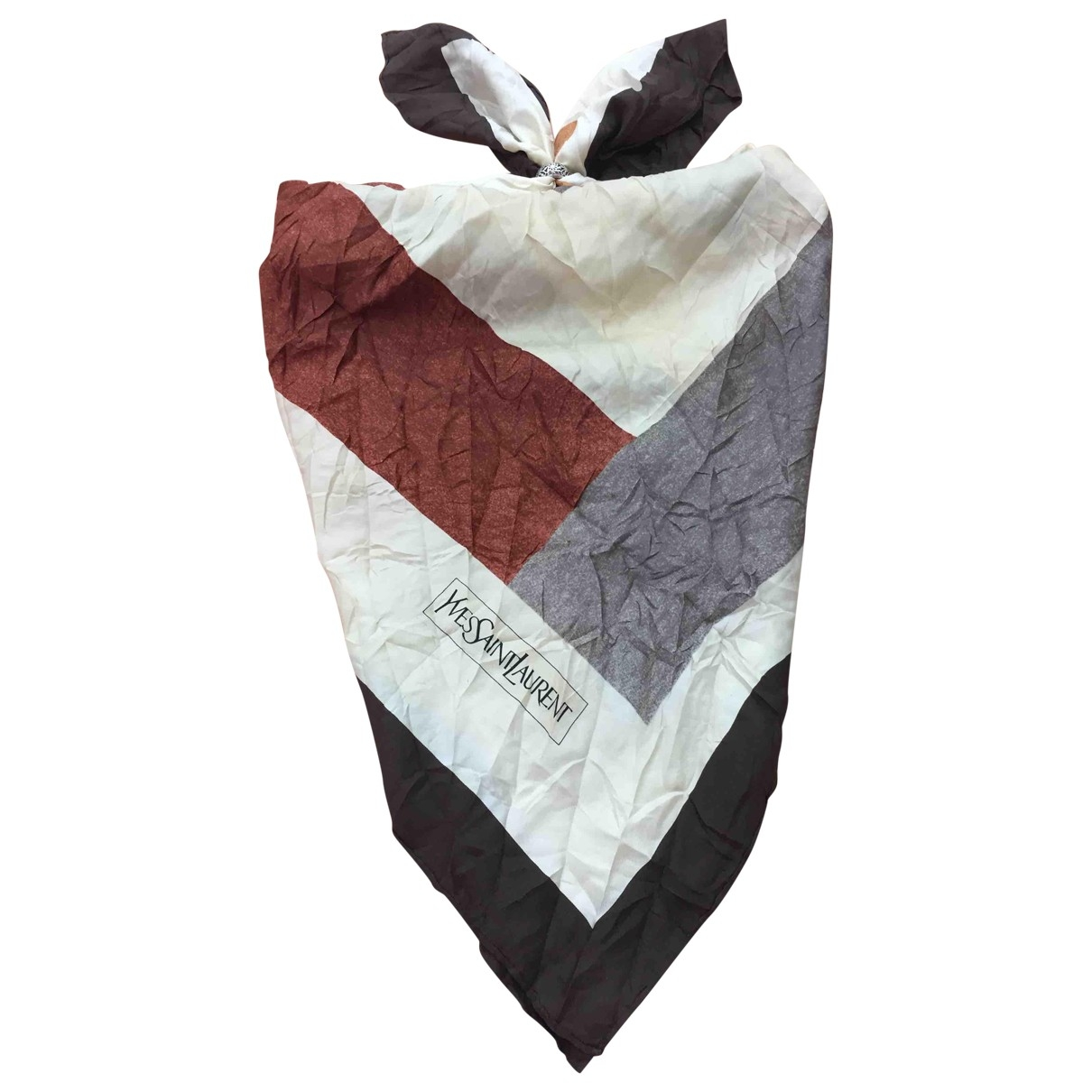 Yves Saint Laurent \N Multicolour Silk scarf for Women \N