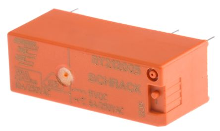 TE Connectivity , 5V dc Coil Non-Latching Relay SPDT, 8A Switching Current PCB Mount Single Pole
