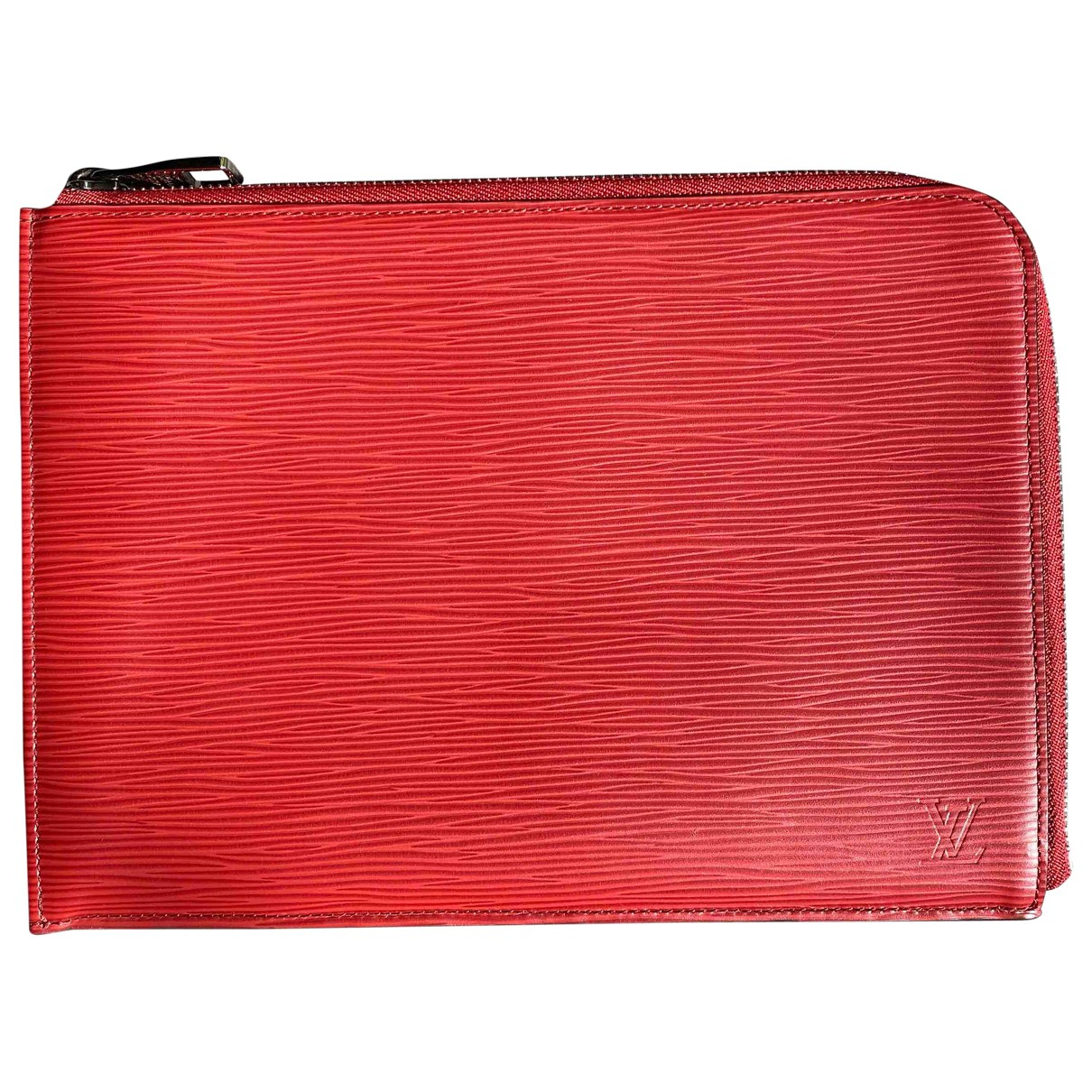 Louis Vuitton \N Orange Leather Small bag, wallet & cases for Men \N