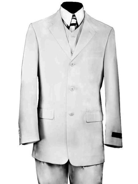 Designer Formal Citywalker 3pc Zoot Suit Set Black or White Hat